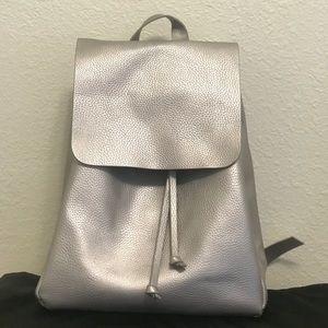 Zara silver backpack